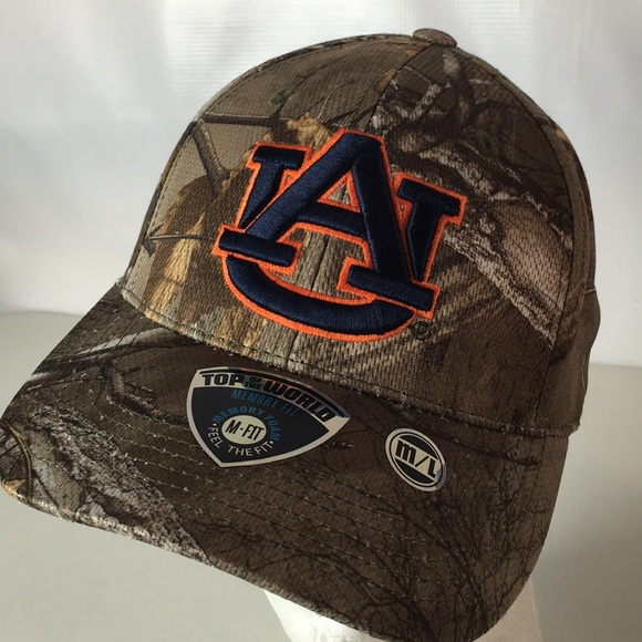 new style 555ab 30a01 Auburn Tigers Hat Camouflage Stretch Fit NCAA